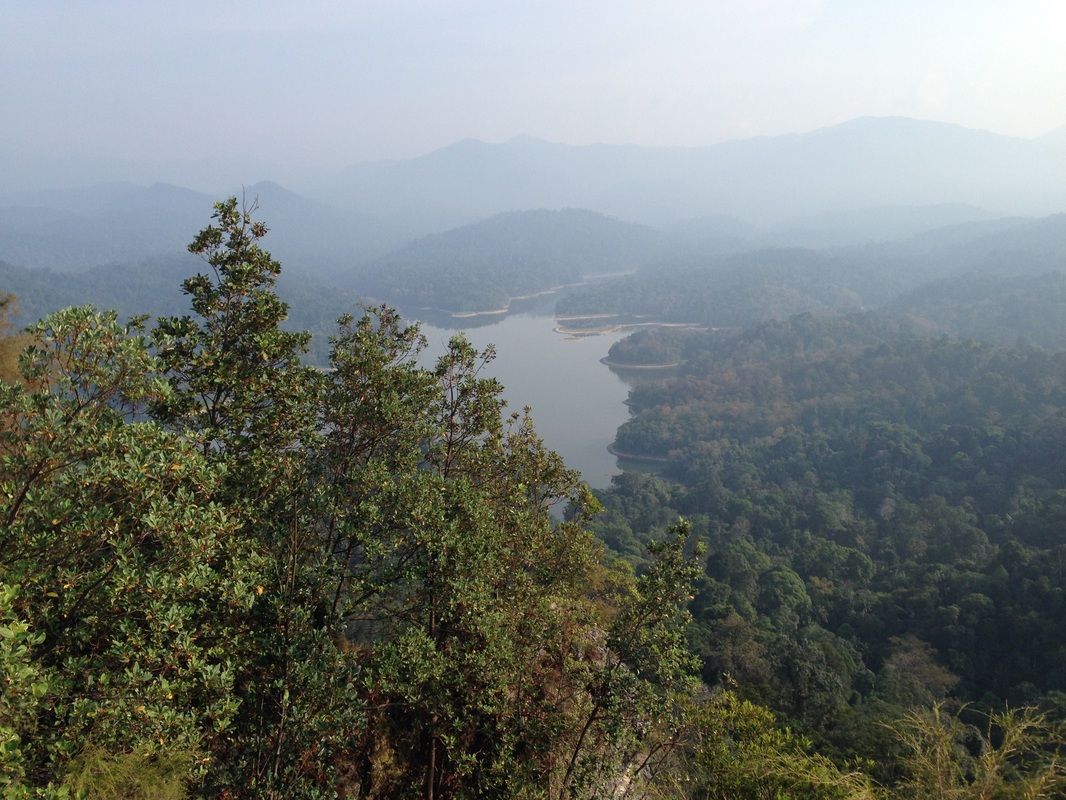 Klang Gates Reservoir seen from the top of Tabur Far East. It was a hazy day...