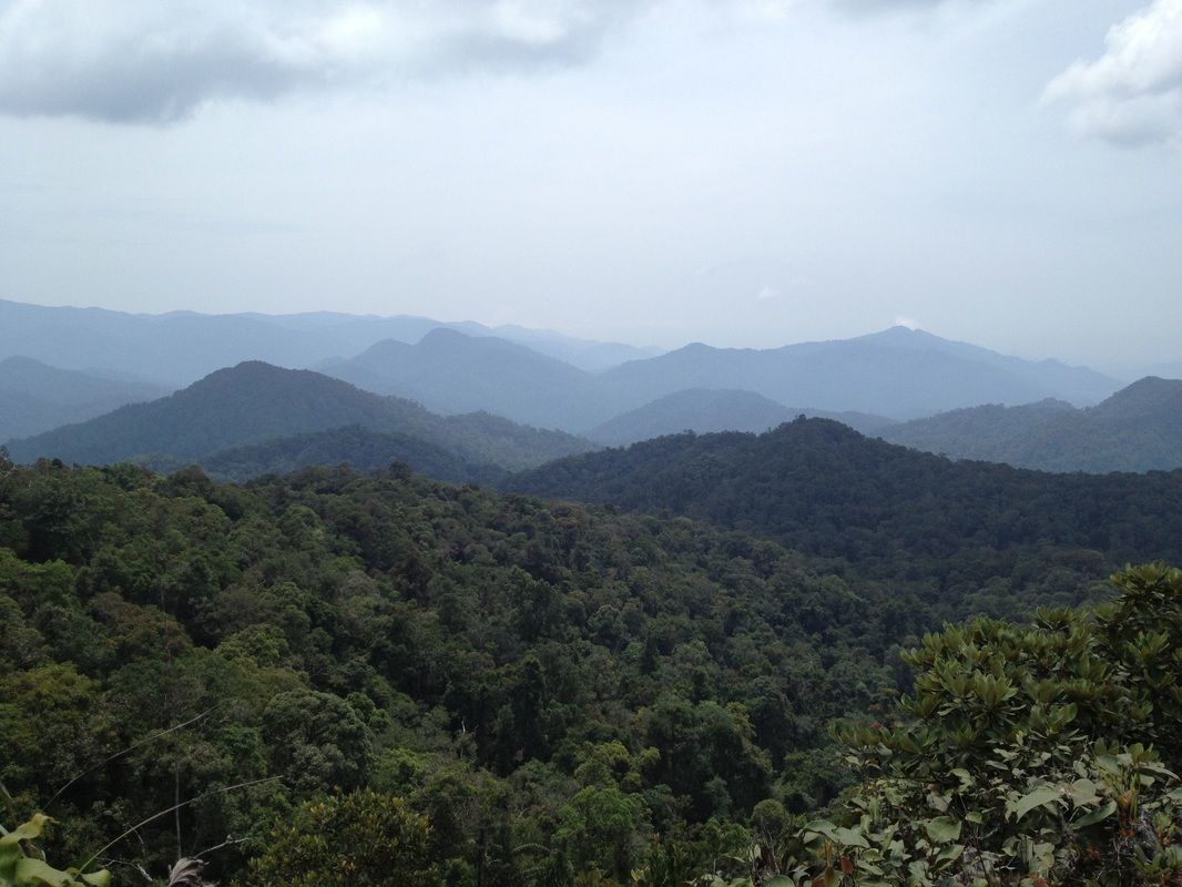 Looking to the south in the direction of Kuala Kubu Bahru