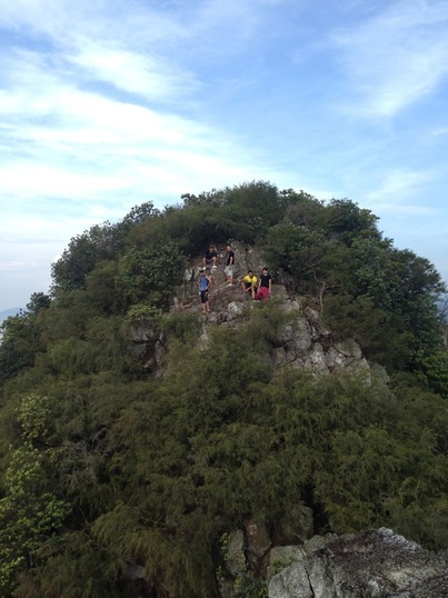 Climbers on the higher Peak #11 of Tabur West